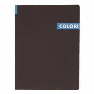 Notitieboekje b5 96 blauwe vellen