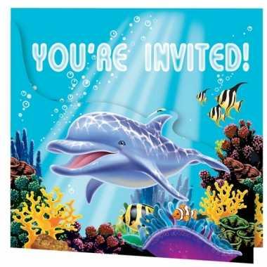 Oceaan feest uitnodigingen 8 stuks