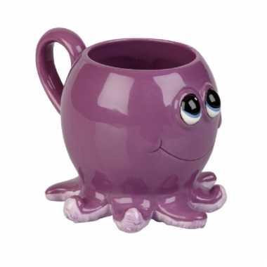 Octopus koffie/thee mok 10 cm