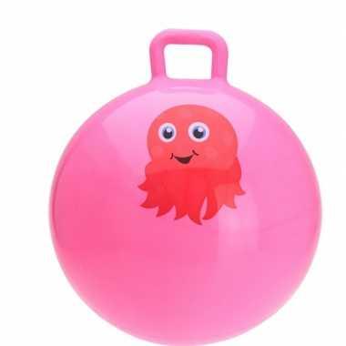 Octopussen skippybal roze 55 cm