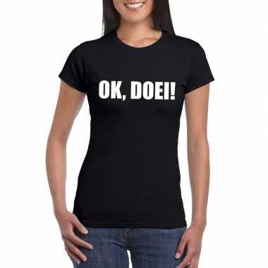 Ok doei dames t-shirt zwart