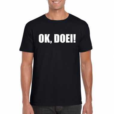 Ok doei heren t-shirt zwart