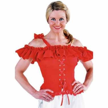 Oktoberfest blouse carmen rood