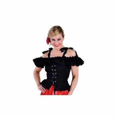 Oktoberfest blouse carmen zwart