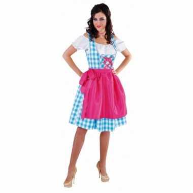 Oktoberfest dirndl blauw voor dames
