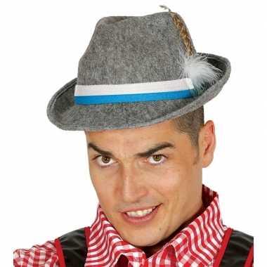 Oktoberfest hoed grijs voor heren