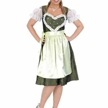Oktoberfest jurk groen met hart