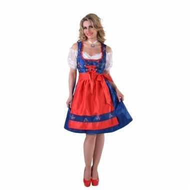 Oktoberfest jurkje blauw met rood schort