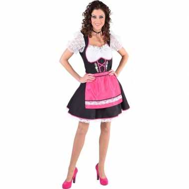 Oktoberfest jurkje zwart met roze schort