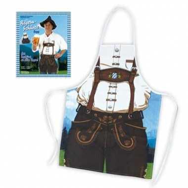 Oktoberfest thema keukenschort man
