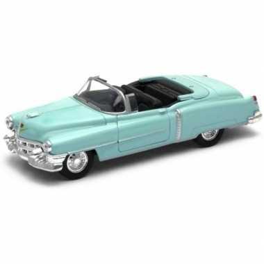 Oldtimer speelgoed auto cadillac eldorado 1953 groen open cabrio 1:34