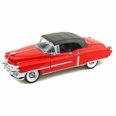Oldtimer speelgoed auto cadillac eldorado 1953 rood gesloten cabrio 1