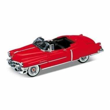 Oldtimer speelgoed auto cadillac eldorado 1953 rood open cabrio 1:34
