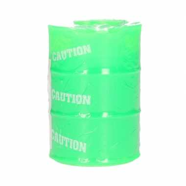 Olievat met groen slijm 134 gram