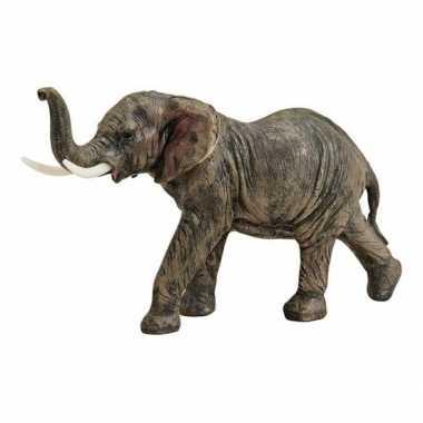 Olifant beeld bruin 19 cm