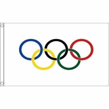 Olympische vlaggen 90 x 60 cm