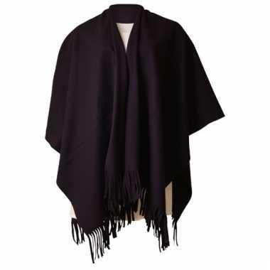 Omslagdoek zwart voor dames