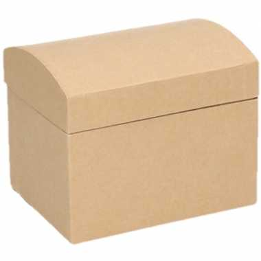 Onbewerkte kartonnen sieradendoos 11,5 cm