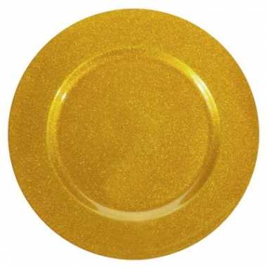Onderzetbord glitter goud 33 cm