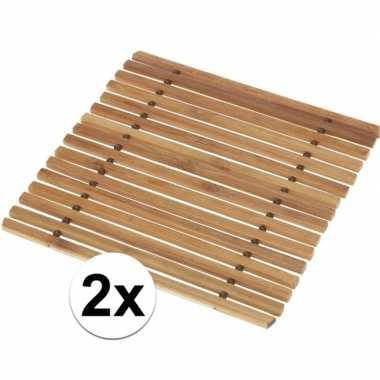 Onderzetter voor pannen 2x stuks
