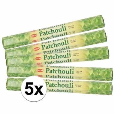 Ontspanning wierook patchouli 100 stuks