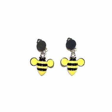 Oorbel clip on met bijen eraan