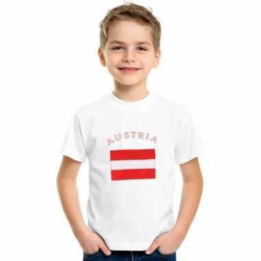Oostenrijks vlaggen t-shirt voor kinderen
