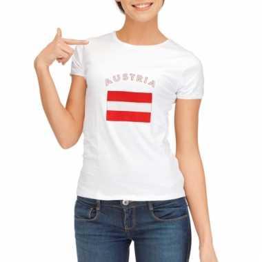 Oostenrijkse vlaggen t-shirt voor dames