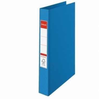 Opberg documenten mappen a4 2 gaats blauw