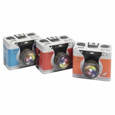 Opbergblikken blauwe camera