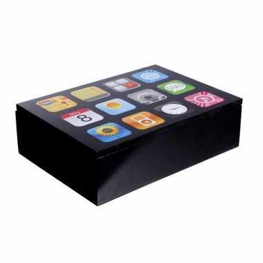 Opbergkist smartphone apps 24 cm