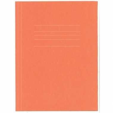 Opbergmappen folio formaat oranje