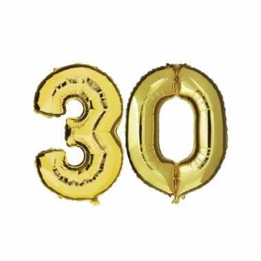 Opblaas 30 jaar ballonnen goud