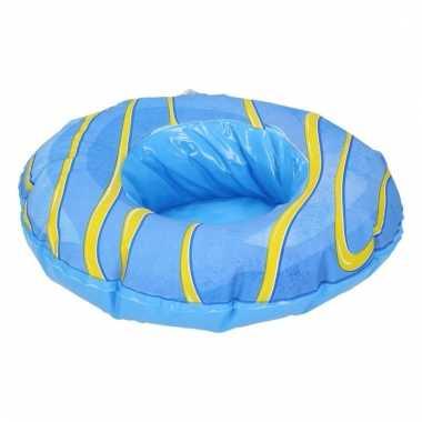 Opblaas donut beker houders blauw
