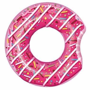 Opblaas donut roze 107 cm kinderen en volwassenen