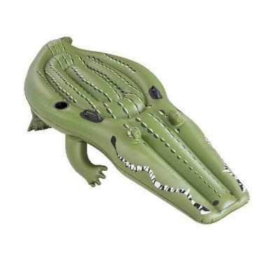 Opblaas krokodil ride-on 259 cm kinderen en volwassenen