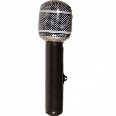 Opblaas microfoon zwart