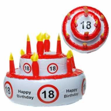 Opblaas taart 18 jaar met verkeersbord