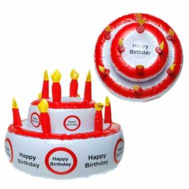 Opblaas taart happy birthday met verkeersbord
