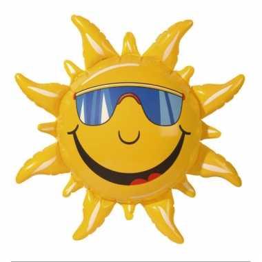 Opblaas zon met gezicht
