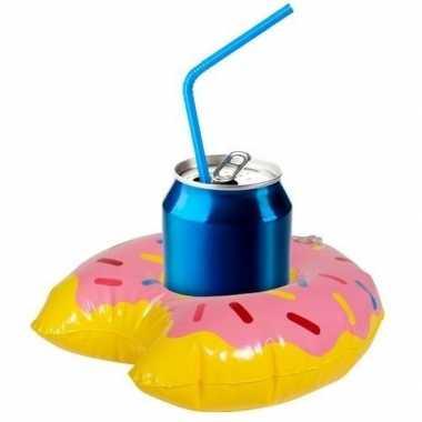 Opblaasbare drank houder donut 34 cm