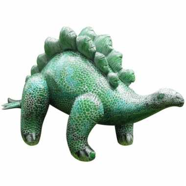 Opblaasbare groene stegosaurus 117 cm