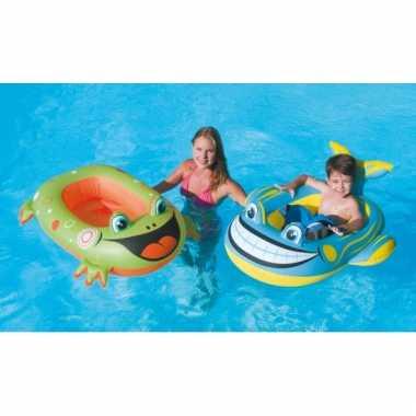 Opblaasbare kikker boot voor kids 99 x 66 cm
