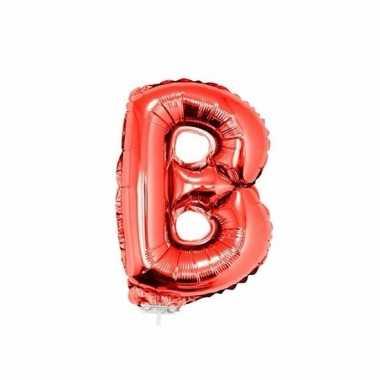 Opblaasbare letter b rood 41 cm