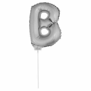 Opblaasbare letter b zilver