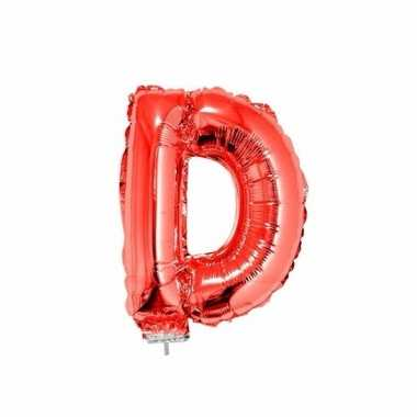 Opblaasbare letter d rood 41 cm