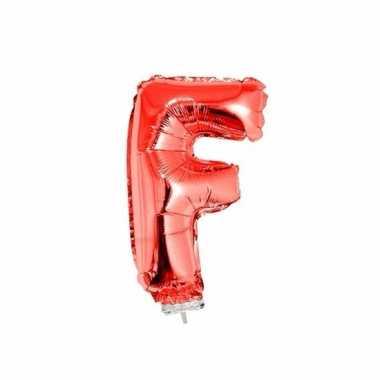 Opblaasbare letter f rood 41 cm