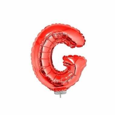 Opblaasbare letter g rood 41 cm