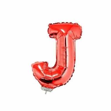 Opblaasbare letter j rood 41 cm