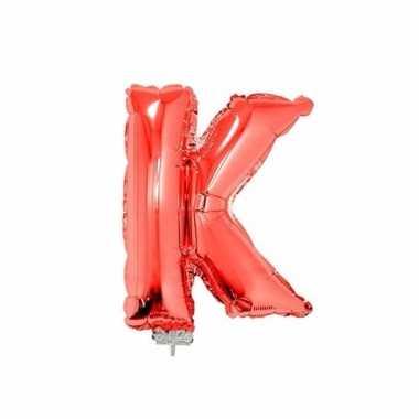 Opblaasbare letter k rood 41 cm